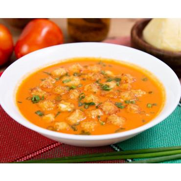 Sopa de Tomate Com Croutons de Queijo Coalho 210 kcal - Low Carb -350g